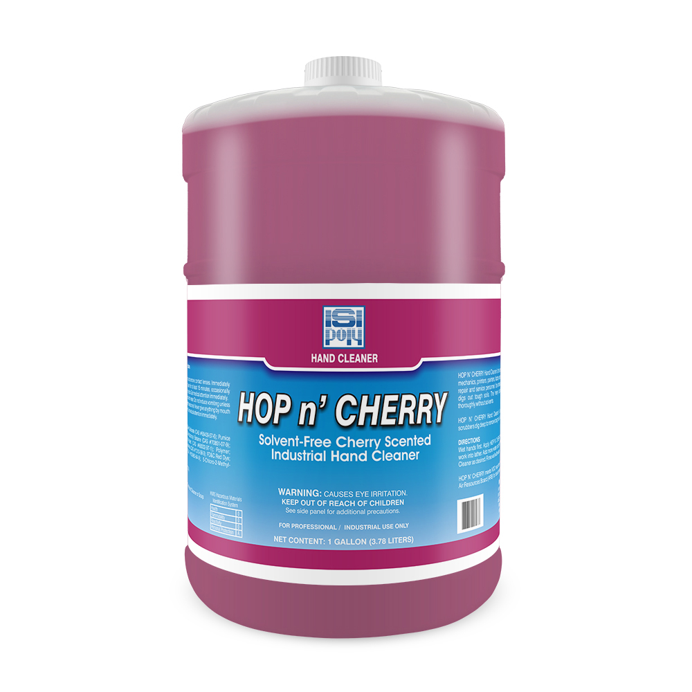 Isi-Poly Hop N Cherry With Dispenser- 1 Gallon - Pack of 4